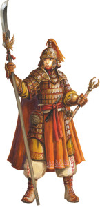 The Phoenix Warrior as envisioned by Florian Stitz, for the free sample chapter at paizo.com